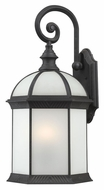 Nuvo 604983 Boxwood Small Textured Black Fluorescent 15 Inch Tall Outdoor Wall Light Sconce