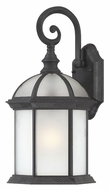 Nuvo 604989 Boxwood Fluorescent Frosted Glass Textured Black Outdoor Lighting Sconce