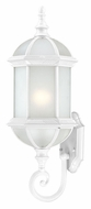 Nuvo 604991 Boxwood 22 Inch Tall White Fluorescent Outdoor Wall Light - Lower Mounting