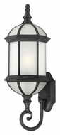 Nuvo 604993 Boxwood Fluorescent Textured Black Finish Outdoor Wall Lamp - Lower Mounting