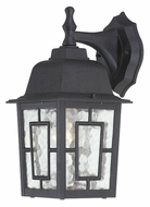 Nuvo 604923 Banyon Textured Black Finish 12 Inch Tall Water Glass Exterior Sconce