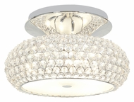 Access 51002-CH/CCL Kristal�Semi Flush Chrome Finish Crystal Ceiling Lighting Fixture - Small