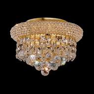 Elegant 1800F10G-RC Primo Mini Ringed Gold 3-light Overhead Light Fixture