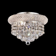 Elegant 1800F10C-RC Primo Chrome Mini Ring Crystal Flush Mount Lighting