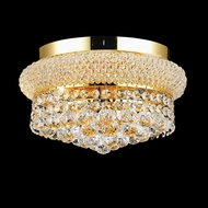 Elegant 1800F12G-RC Primo 12  Gold Ceiling Lighting Fixture with Clear Crystals