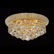 Elegant 1800F14G-RC Primo Gold Crystal 14  6-light Flush Mount Indoor Ceiling Lighting