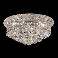 Elegant 1800F14C-RC Primo 6-lamp 14  Flush Mount Chrome Home Ceiling Lighting