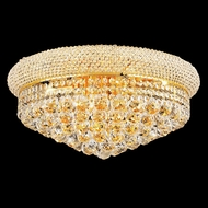 Elegant 1800F20G-RC Primo 20  10-lamp Gold Flush Mount Ceiling Lighting