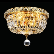 Elegant 2528F10G-RC Tranquil 10  4-light Gold Crystal Ceiling Lighting