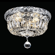 Elegant 2528F10C-RC Tranquil 4-lamp 10  Crystal Chrome Flush Mount Light Fixture
