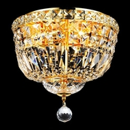 Elegant 2528F12G-RC Tranquil Small 12  4-lamp Crystal Gold Overhead Light Fixture