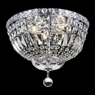 Elegant 2528F14C-RC Tranquil 14  Chrome Crystal Flush Mount Lighting