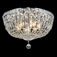 Elegant 2528F18C-RC Tranquil Chrome 18  8-light Crystal Ceiling Light Fixture