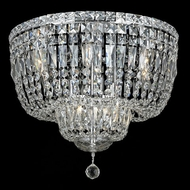 Elegant 2528F20C-RC Tranquil 20  10-light Crystal Chrome Flush Mount Ceiling Lighting