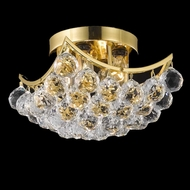 Elegant 9800F10G-RC Corona Crystal Gold Ceiling Light Fixture