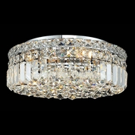 Elegant 2030F16C-RC Maxim 16  Medium Crystal Flush Lighting