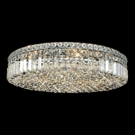 Elegant 2030F24C-RC Maxim Extra Large 24  9-light Crystal Flush Mount Ceiling Lighting