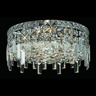 Elegant 2031F14C-RC Maxim Small 4-lamp Crystal Flush Mount Ceiling Light Fixture