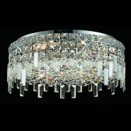 Elegant 2031F20C-RC Maxim Large 20  Flush Mount Lighting with Square Crystals