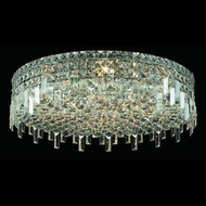 Elegant 2031F24C-RC Maxim Extra Large 9-lamp Crystal Flush Mount Light Fixture