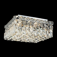 Elegant 2032F12C-RC Maxim Mini 12  4-light Clear Crystal Flush Lighting