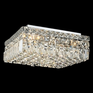 Elegant 2032F14C-RC Maxim 5-lamp Small Square Crystal Ceiling Light