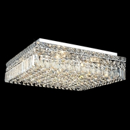 Elegant 2032F20C-RC Maxim Large 12-lamp Square Crystal Flush Mount Overhead Light Fixture