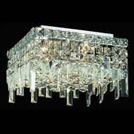 Elegant 2033F14C-RC Maxim Small 5-lamp Crystal Ceiling Lighting Fixture
