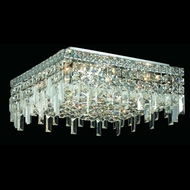 Elegant 2033F16C-RC Maxim Medium Crystal Flush Mount Overhead Lighting