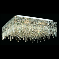 Elegant 2033F20C-RC Maxim 20  7-lamp Crystal Flush Mount Ceiling Light Fixture