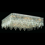 Elegant 2033F24C-RC Maxim Extra Large 24  13-light Crystal Flush Mount Lighting