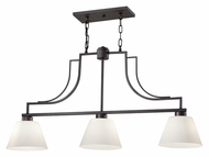 Feiss F2762/3CI Weston 3 Lamp 38 Inch Wide Colonial Iron Kitchen Island Lighting