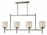 Feiss F2769/4PN Malibu 4 Lamp Polished Nickel Finish 36 Inch Wide Island Lighting