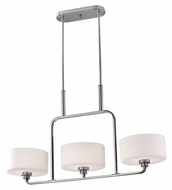 Feiss F2776/3BS Kincaid Brushed Steel Pendant Island Lighting - 36 Inches Wide