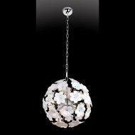 Lite Source LSEL-10089 Daisy 18 Inch Diameter White Flower Sphere Pendant Lamp