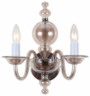 Crystorama 9842CHCG Harper Modern 2 Candle Sconce