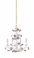 Crystorama 5414-AW Retro 18 inch chandelier in antique white