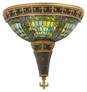 Meyda Tiffany 112979 Fleur-De-Lis 16 Inch Tall Art Glass Wall Light Sconce