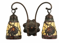 Meyda Tiffany 111324 Burgundy Pinecone 2 Lamp 15 Inch Wide Wall Sconce Light Fixture