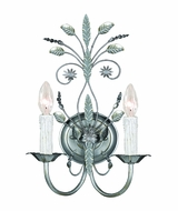 Crystorama 4702-SL Floral 11 inch 2-lite wall sconce in silver leaf finish