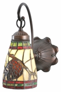 Meyda Tiffany 106293 Pinecone Dome Mahogany Bronze Finish 11 Inch Tall Wall Sconce Light