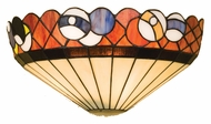 Meyda Tiffany 22198 14 Inch Wide Tiffany Art Glass Pocket Wall Sconce Light