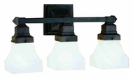 Meyda Tiffany 27623 Bungalow 3 Lamp Mahogany Bronze Finish Transitional Sconce Lighting