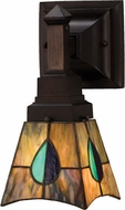 Meyda Tiffany 31229 Mackintosh Leaf 1 Bulb Tiffany Reversible Wall Sconce Lighting Fixture