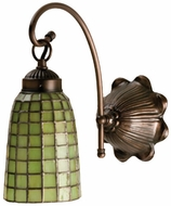 Meyda Tiffany 18636 Green Geometric 1 Light Tiffany Wall Sconce Lighting Fixture