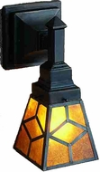 Meyda Tiffany 27883 Diamond Mission 1 Light Tiffany Reversible Wall Sconce Lighting Fixture