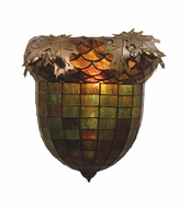 Meyda Tiffany Acorn and Oak Leaves 12 inches wide 1 Bulb Wall Sconce