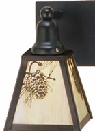 Meyda Tiffany 52461 Craftsman 1 Light Wall Sconce Lighting Fixture
