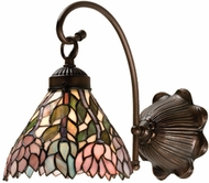 Meyda Tiffany 18721 Wisteria 1 Light Wall Sconce Lighting Fixture