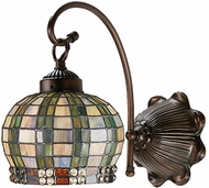 Meyda Tiffany 19012 Jeweled Basket 1 Light Tiffany Wall Sconce Lighting Fixture
